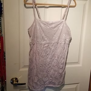 Maurices light purple crinkle lace cami size o xxl